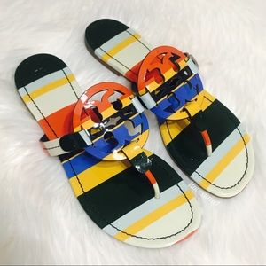 {Tory Burch} RARE Rainbow Miller Sandals